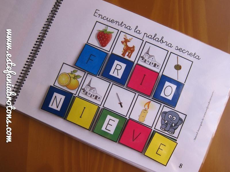 Encuentra la palabra secreta a partir de la inicial de cada dibujo.